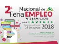 Te invitamos a la 2° Feria de Empleo y Servicios para jóvenes Cuernavaca 2018
