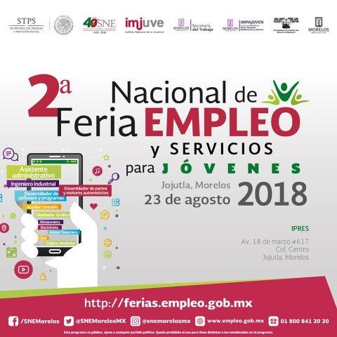 """<a href=""""/2-feria-empleo-jojutla-2018"""">Te invitamos a la 2° Feria de Empleo y Servicios para jóvenes Jojutla 2018</a>"""