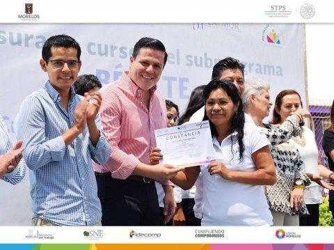 SNE Morelos lleva a cabo Clausura de Cursos de Capacitación en ICATMOR