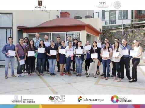 """<a href=""""/cursos-de-capacitacion-aux-juridico"""">Secretaría del Trabajo Morelos y el SNE Morelos entregan becas y constancias a beneficiarios</a>"""