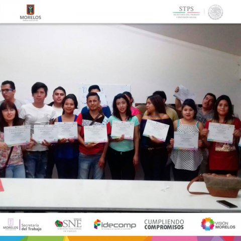 SNE Morelos entrega constancias y apoyos, en Ayala Morelos