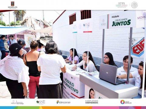 SNE Morelos participa en Feria de Atención Ciudadana Móvil