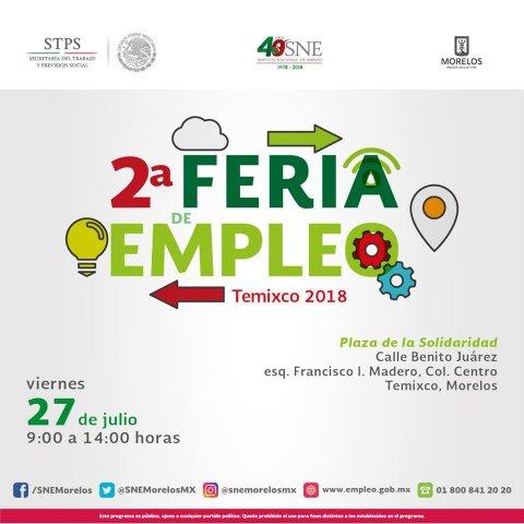 "<a href=""/2-feria-empleo-temixco-2018""> Te invitamos a la 2° Feria de Empleo Temixco 2018</a>"