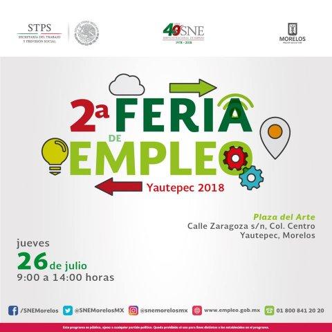 "<a href=""/2-feria-empleo-yautepec-2018"">2° Feria de Empleo Yautepec 2018</a>"