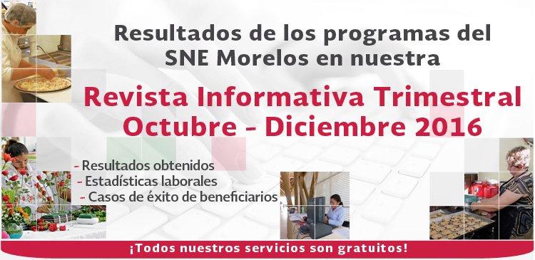 Revista Informativa 4to. Trimestre 2016 SNE Morelos.