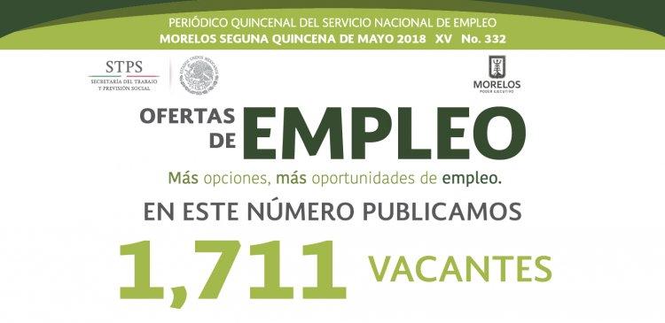 Periódico Ofertas de Empleo 2da. Quincena de mayo 2018